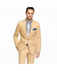 J.Crew | Natural Ludlow Two-button Suit Jacket with Center Vent in Italian Chino for Men | Lyst