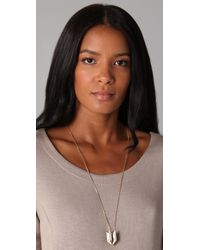 Madewell - Metallic Anchor Pendant Necklace - Lyst