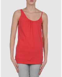 MM6 by Maison Martin Margiela | Red Top | Lyst