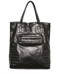 Neil Barrett | Black Leather Tote Bag for Men | Lyst
