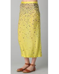 Opening Ceremony - Yellow High Slit Floral Skirt - Lyst