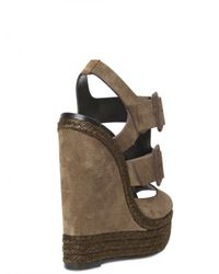 Pierre Hardy - Natural 150mm Suede Buckled Sandal Wedges - Lyst