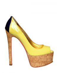 Ruthie Davis | Yellow 150mm Patent Fluro Peep Toe Pumps | Lyst