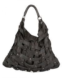 Salar | Black Juni Woven Shoulder Bag | Lyst
