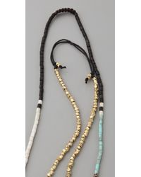 Shashi - Multicolor Zen Golden Nugget Necklace - Lyst