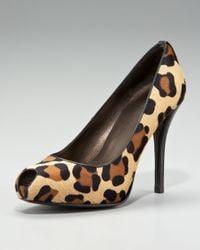 Stuart Weitzman | Multicolor Leopard-Print Calf Hair Pump | Lyst