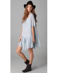 Textile Elizabeth and James | Blue Kensington Dress | Lyst
