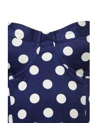 TOPSHOP - Blue Spot Zip Back Corset - Lyst