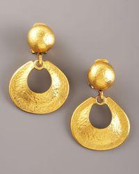 Jose & Maria Barrera - Metallic Hammered Gold Earrings - Lyst