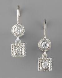 Penny Preville - Metallic Diamond Drop Earrings - Lyst
