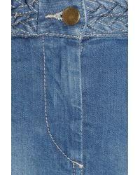 Isabel Marant - Blue Lea Stretch-Denim Skirt - Lyst