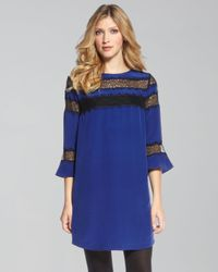 Rebecca Taylor | Blue Romantic Lace-inset Tunic (cusp Top Seller!) | Lyst
