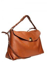 Sergio Rossi - Brown Viva Soft Grainyed Leather Shoulder Bag - Lyst