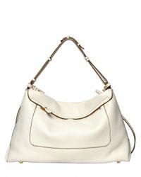 Sergio Rossi - White Viva Soft Grainyed Leather Shoulder Bag - Lyst