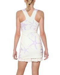 Versace   White Starfish Studded 3d Jersey Dress   Lyst