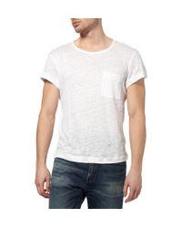 Acne Studios White Granville Linen Semi-sheer T-shirt for men