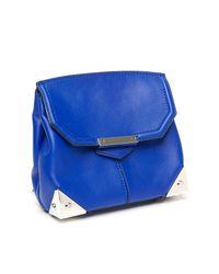 Alexander Wang Blue Marion Mini Flap Bag