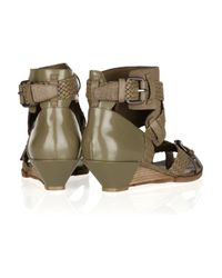 Alexander Wang Gray Eva Leather Wedge Sandals