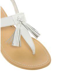 ASOS White Asos Florrie Flat Sandals with Tassel