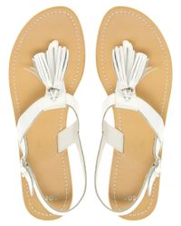 ASOS | White Asos Florrie Flat Sandals with Tassel | Lyst