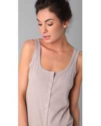 Enza Costa - Natural Rib Button Dress - Lyst