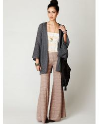 Free People | Gray Kimono Solid Sweater | Lyst