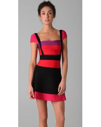 Hervé Léger Multicolor Colorblock Lola Dress