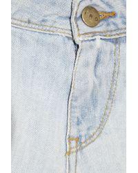 IRO Blue Bella Stretch-denim Micro Shorts