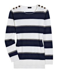 JOSEPH   Blue Sailor Striped Cashmere Sweater   Lyst