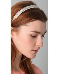 Juicy Couture - Natural Rhinestone Headband - Lyst