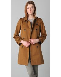 Madewell | Brown Harrison Trench Coat | Lyst