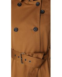 Madewell Brown Harrison Trench Coat