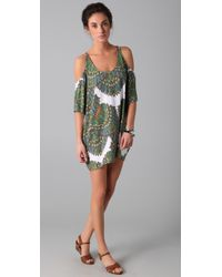 Mara Hoffman | Green Cutout Shoulder Dress | Lyst