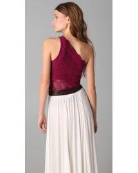 Nightcap | Purple One Shoulder Top | Lyst
