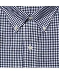 Polo Ralph Lauren | Blue Button Down Collar Gingham Shirt for Men | Lyst