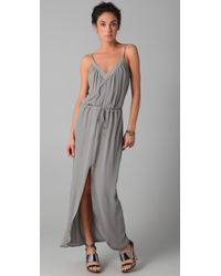 Rory Beca | Metallic Keith V Neck Slit Gown | Lyst