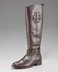 Tory Burch Black Blaire Leather Riding Boot