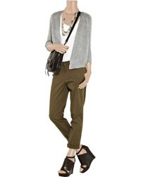 Vince | Metallic Knitted Cardigan | Lyst