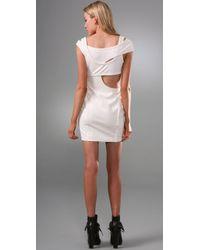 Alexander Wang Natural Cutout Ponte Dress