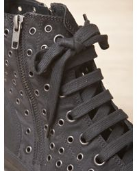 Ann Demeulemeester - Black Mens Scamosciato Eyelet High Top Sneakers for Men - Lyst