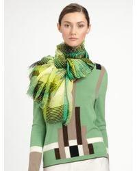Carolina Herrera - Green Stripe Scarf - Lyst