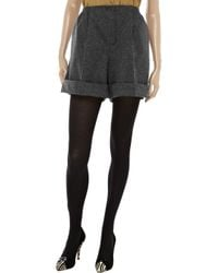 Carven Gray Wool Blend Shorts