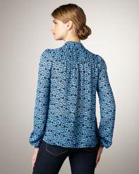 Elizabeth and James | Blue Jamie Mod-Print Blouse | Lyst