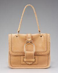 Jimmy Choo Natural Louise Stitched Shoulder Bag