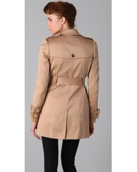 Juicy Couture Natural Solid Sateen Trench Coat