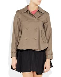Juicy Couture - Brown Stretch-cotton Gabardine Jacket - Lyst