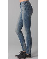 Madewell Blue High Riser Skinny Jeans