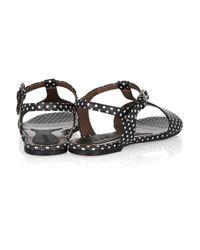 Marni | Black Polka-dot Leather Sandals | Lyst