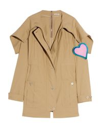 Miu Miu | Natural Hooded Cotton-poplin Parka | Lyst
