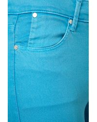 TOPSHOP Blue Turquoise Skinny Leigh Jeans